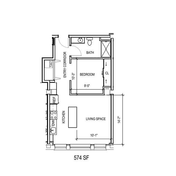Floor-Plan-1E-574-SqFt