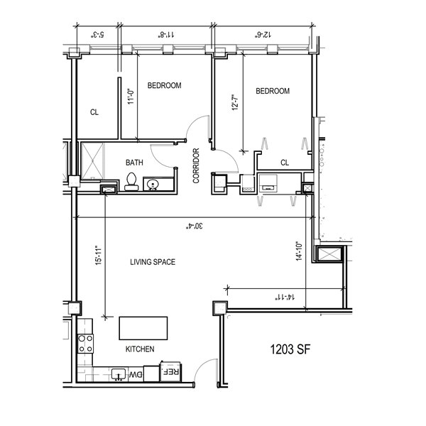 Floor plan 2d mke lofts apartments for Apartment 2d plans